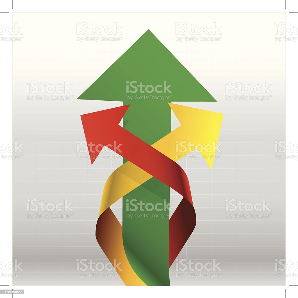 Arrows Up in the graph royalty-free stock vector art