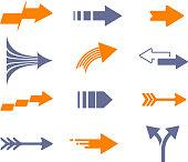 arrow symbol icon set