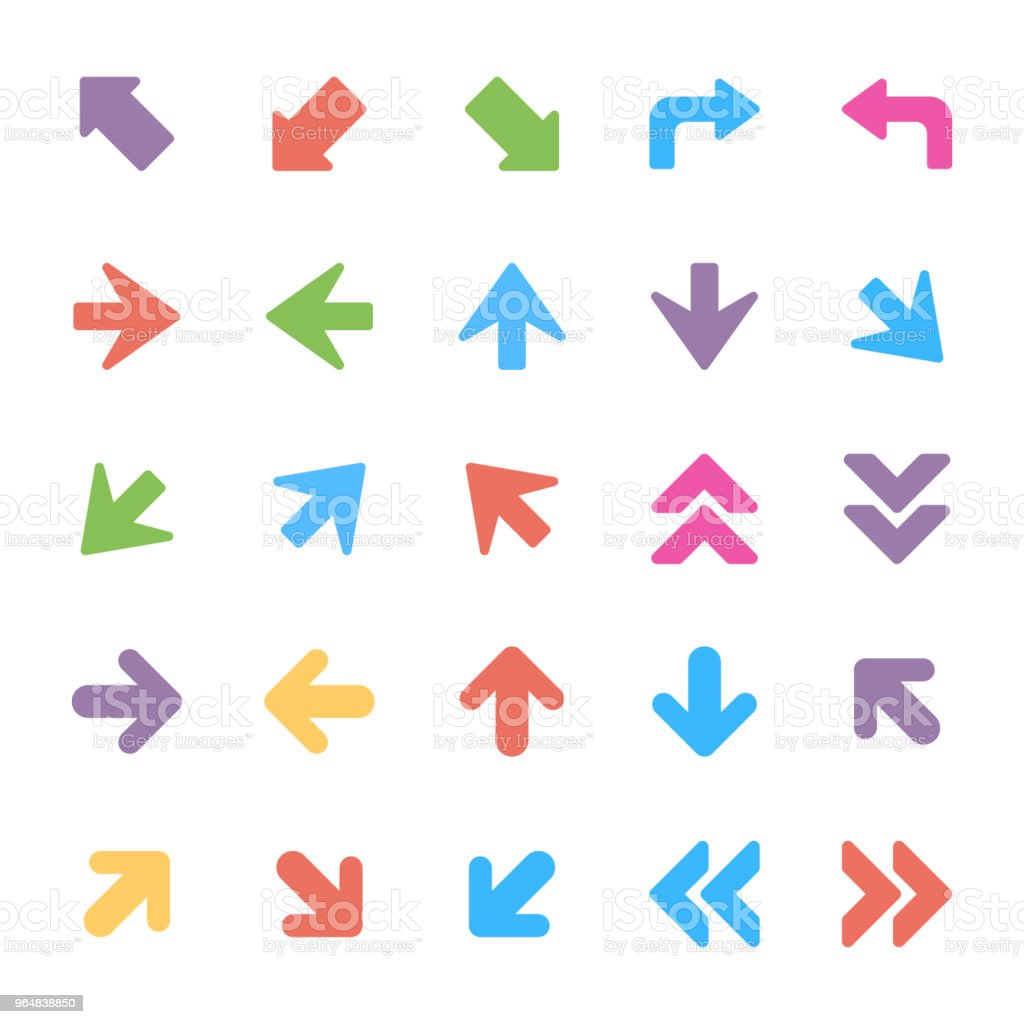 Arrows Vector Icons Set royalty-free arrows vector icons set stock vector art & more images of arrowhead