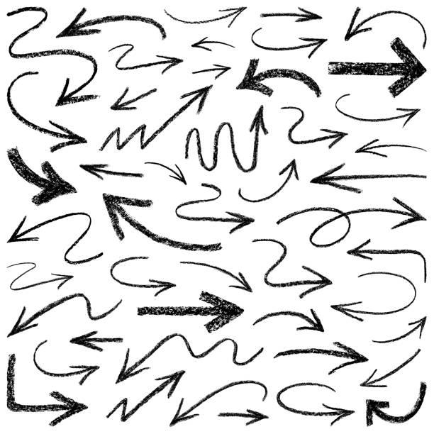 pfeile - kreide stock-grafiken, -clipart, -cartoons und -symbole