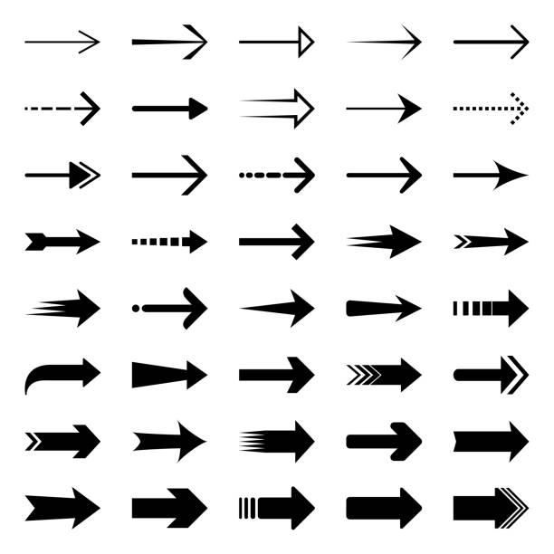 strzałki - chudy stock illustrations