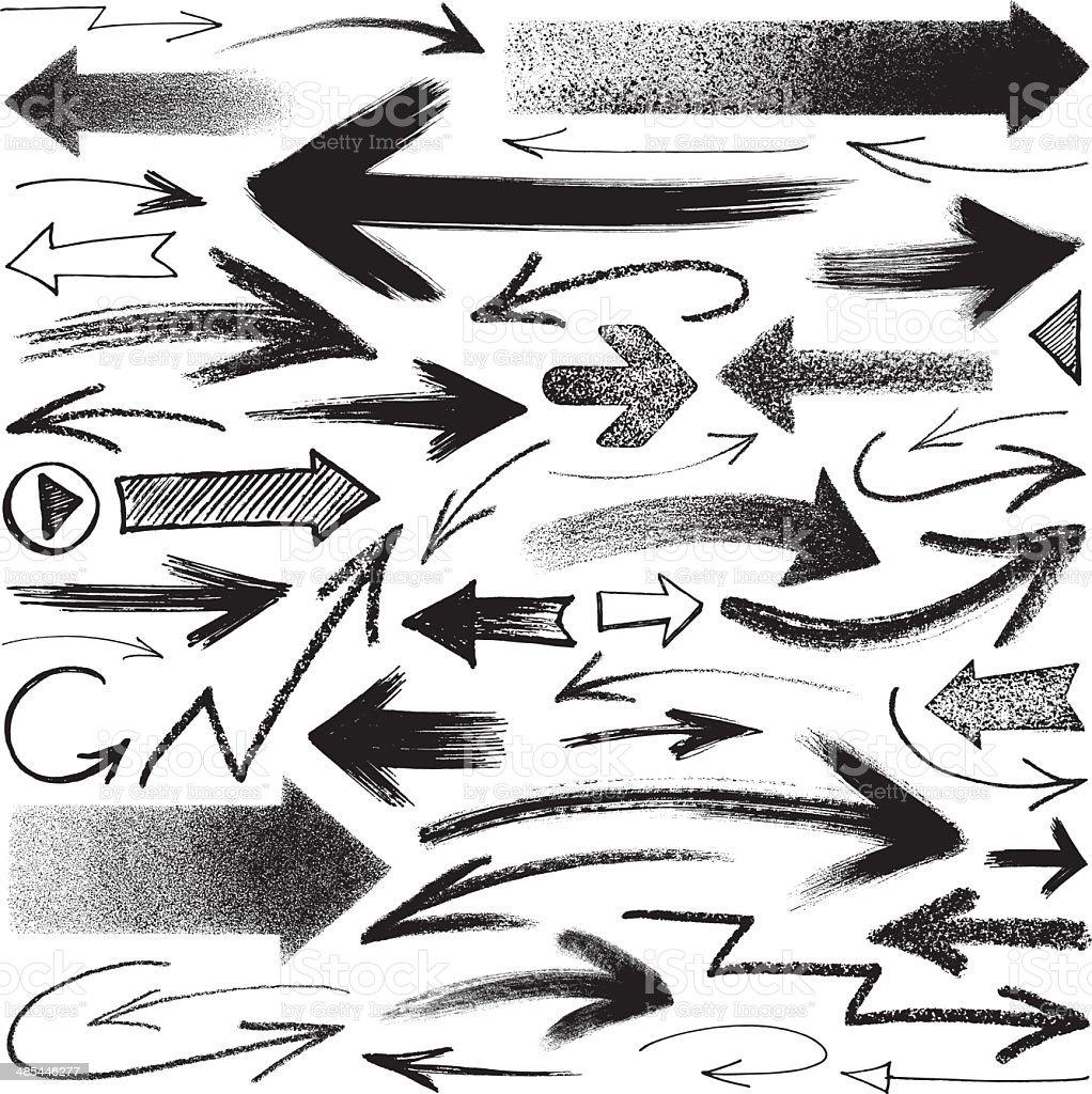Flèches - Illustration vectorielle