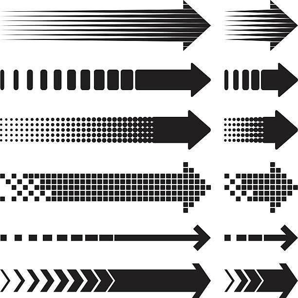 Arrows Arrows hyphen stock illustrations