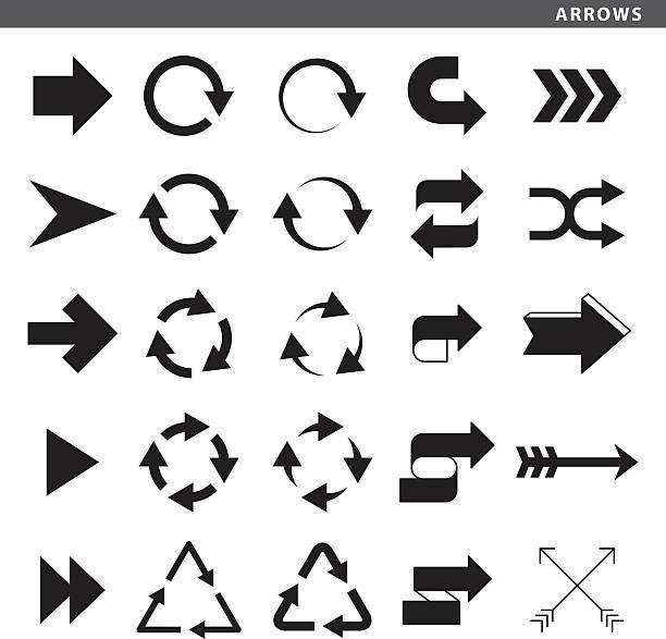 illustrazioni stock, clip art, cartoni animati e icone di tendenza di frecce - mancino