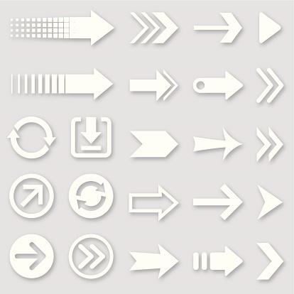 Arrows, design elements.