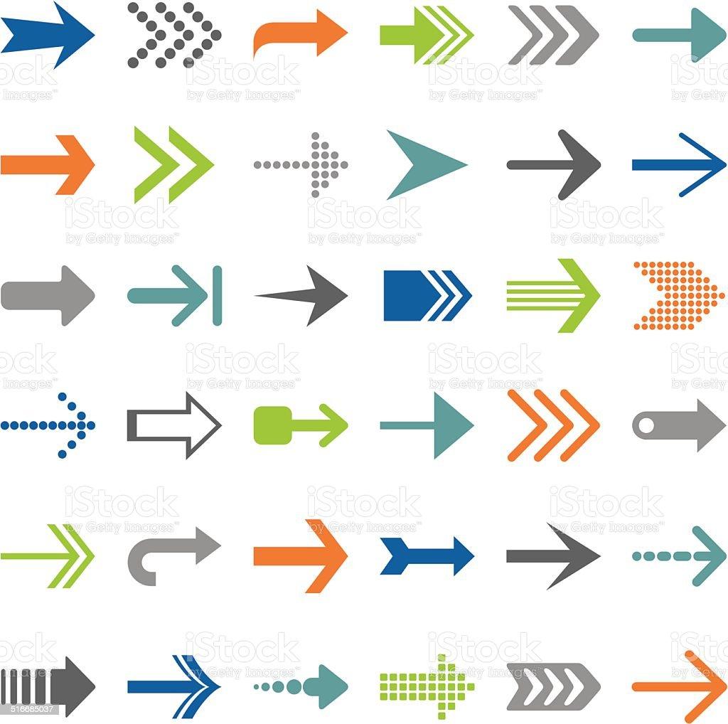Arrows vector art illustration