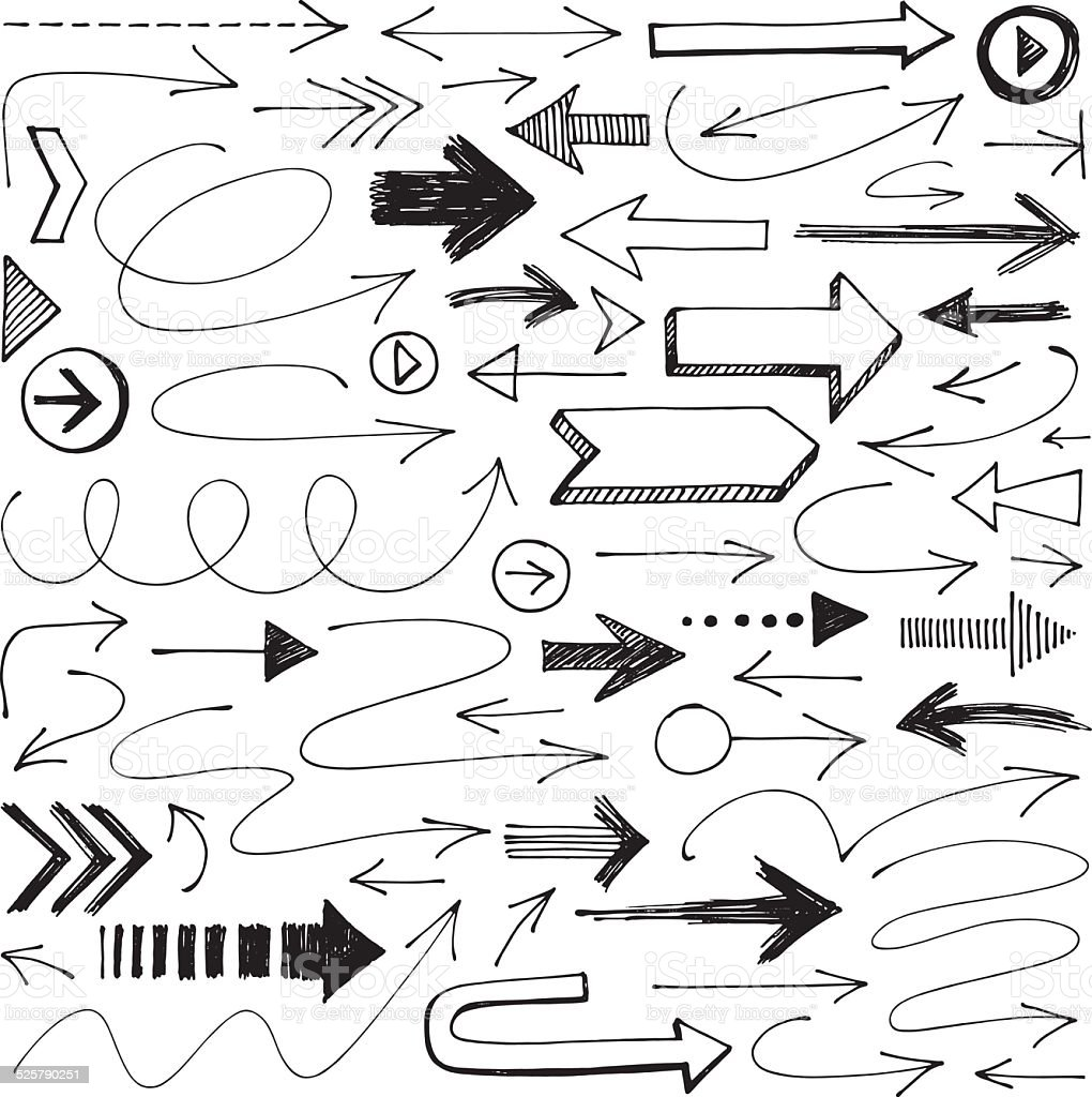 Arrows vector art illustration