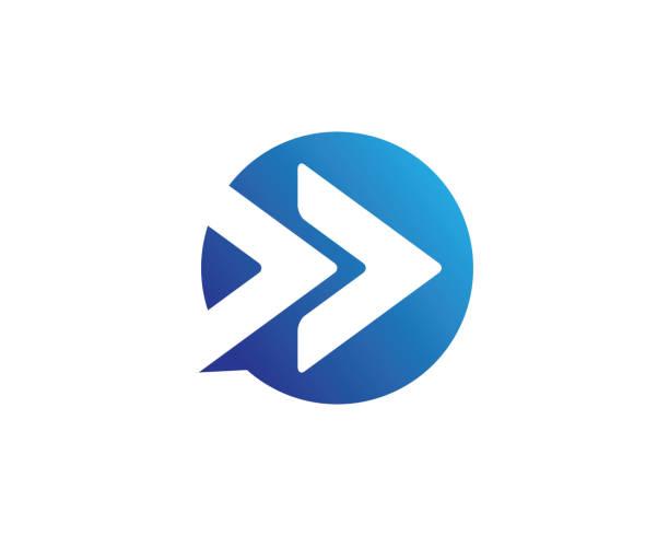 arrows vector illustration icon logo template design - strzała stock illustrations