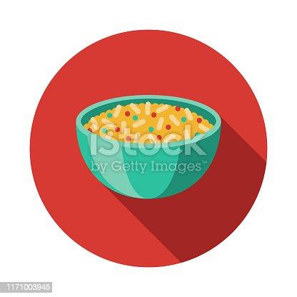 istock Arroz Rojo Mexican Food Icon 1171003945