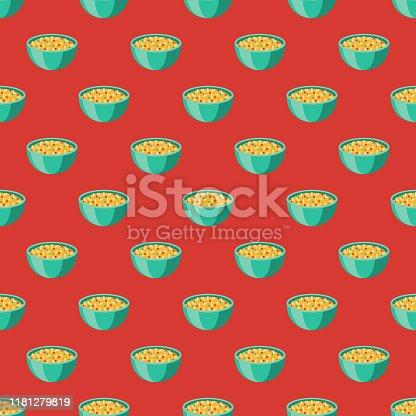 istock Arroz Rojo Mexican Food Pattern 1181279819