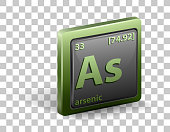 istock Arsenic chemical element. Chemical symbol with atomic number and atomic mass. 1325004382