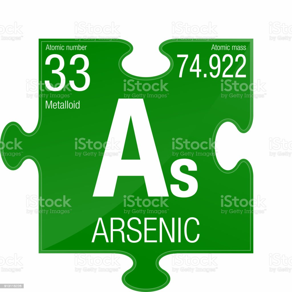 Arsenic Symbol Element Number 33 Of The Periodic Table Of The