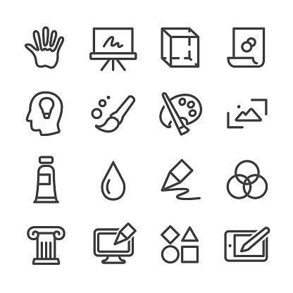 Art and Education Icons - Line Series