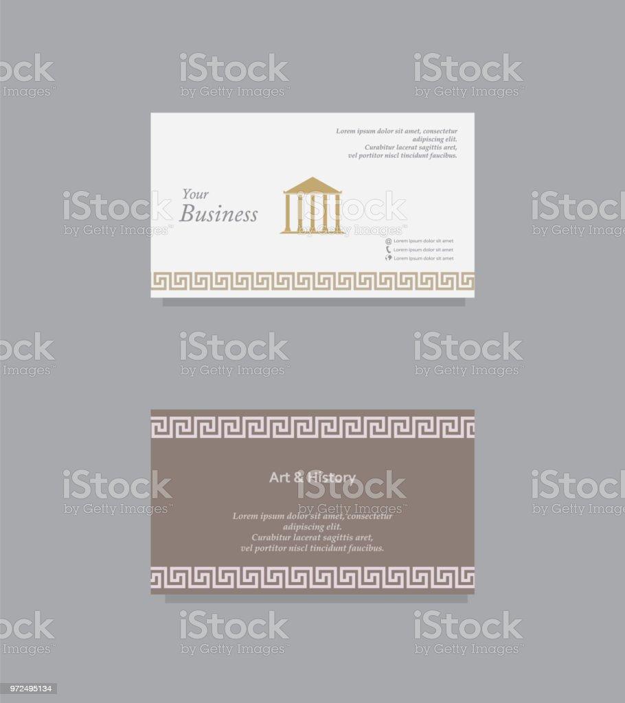 Carte De Visite Art Et Dhistoire Cliparts