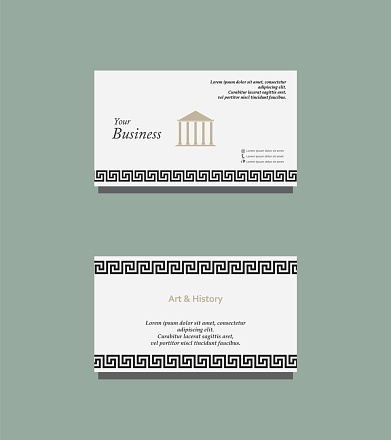 Art and History business card
