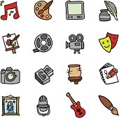 Art and Media doodle icons