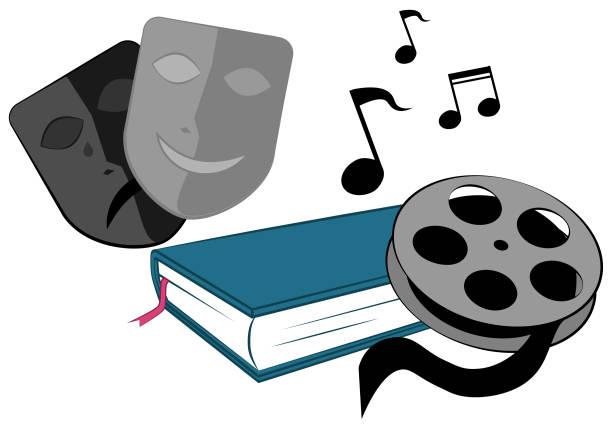 Art and Media vector art illustration