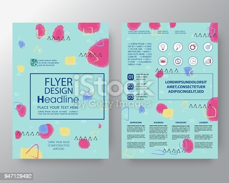 909923870istockphoto art background for Corporate Identity , Brochure annual report cover Flyer Poster design Layout vector template in A4 size 947129492