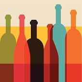 Art background. Wine restaurant concept. Vector.