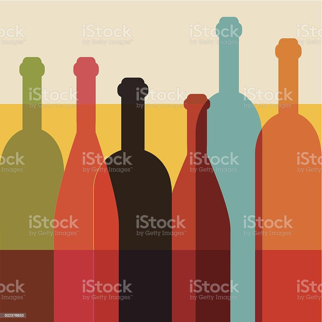 Art background. Wine restaurant concept. Vector. vector art illustration