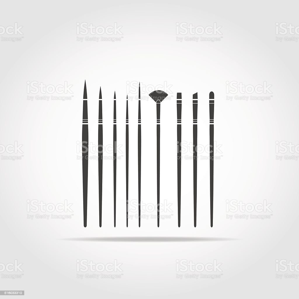Art Brush Black Icon v1 vector art illustration