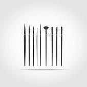 Art Brush Black Icon v1