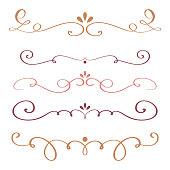 art calligraphy flourish of vintage decorative whorls for design. vector illustration EPS