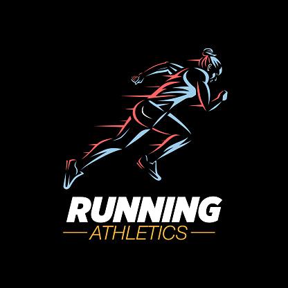 Art concept of a running woman.
