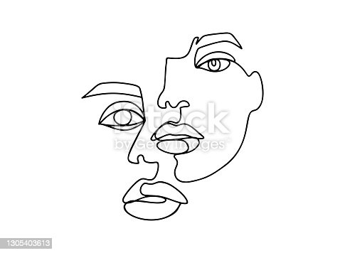 istock Art contemporary poster with abstract female face, one line drawing monstera leaf, love lettering, paint texture and leopard print. Fashion poster. Modern vector graphic design. 1305403613