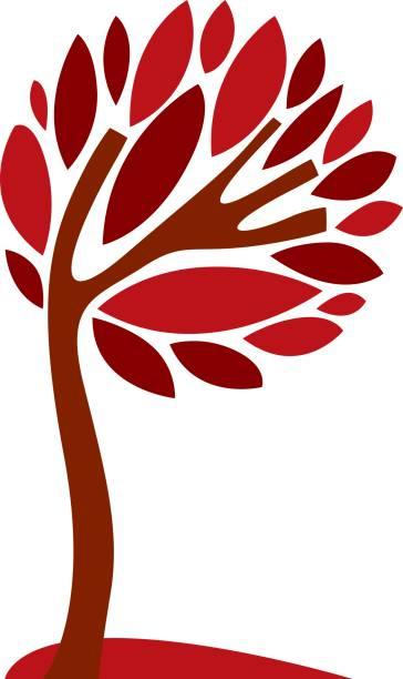 Ilustración creativa de arte del árbol, símbolo estilizado de la eco. Información vector de la imagen en la idea de temporada, planta hermosa. - ilustración de arte vectorial