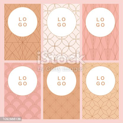 6 art deco background business card template