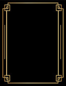 Art deco style background / templates with copy space. Black and gold design.