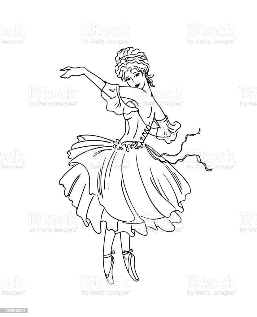 Art Deco Ballerina Stock Illustration Download Image Now