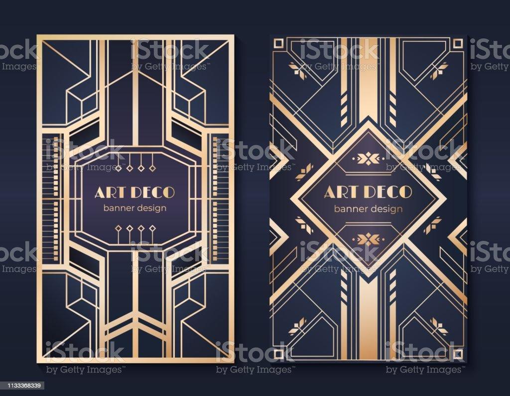 Fine Art Deco Banners 1920S Party Invitation Flyer Fancy Golden Download Free Architecture Designs Grimeyleaguecom