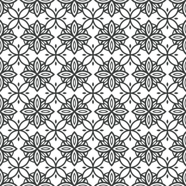Art Deco Batik Seamless Pattern Decorative Background vector art illustration