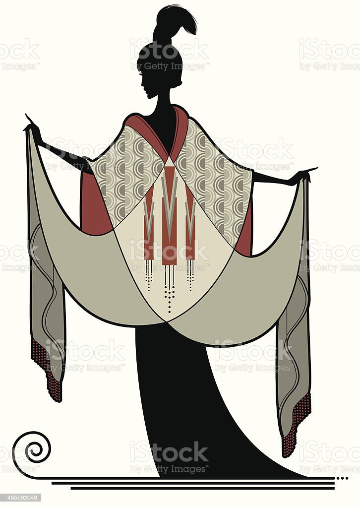 Art Deco Beauty vector art illustration