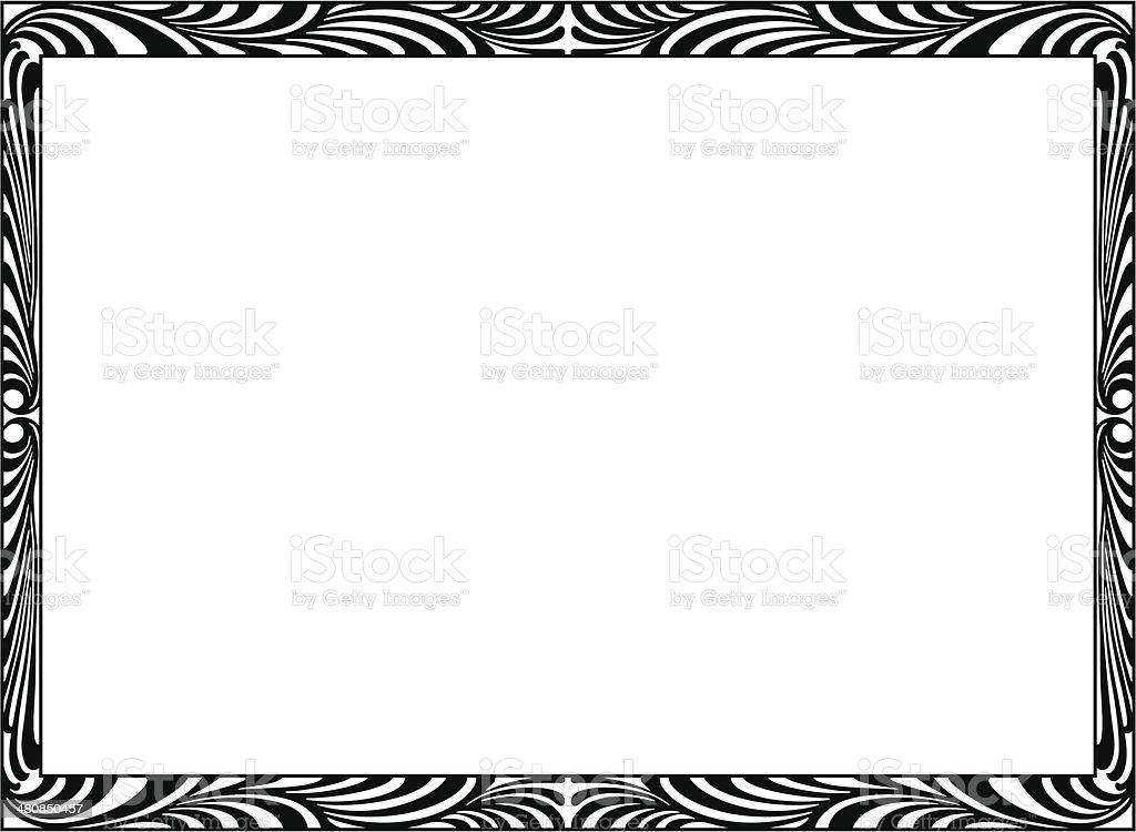art Deco black ornamental decorative frame vector art illustration