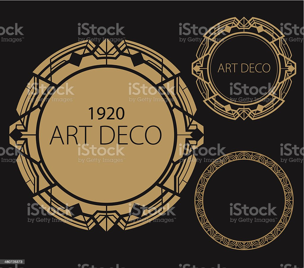 Art Deco Border vector art illustration