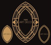 A set of art deco theme border.