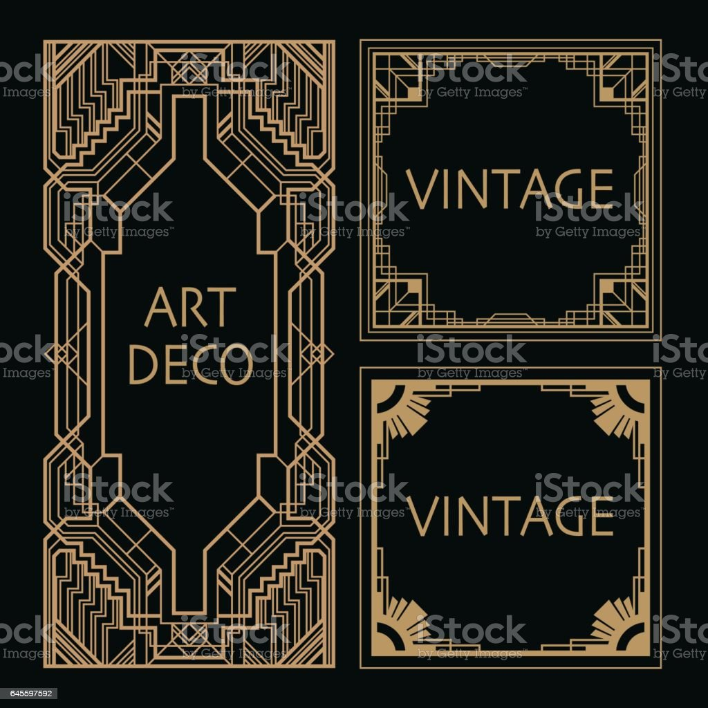 Art Deco Border vector art illustration