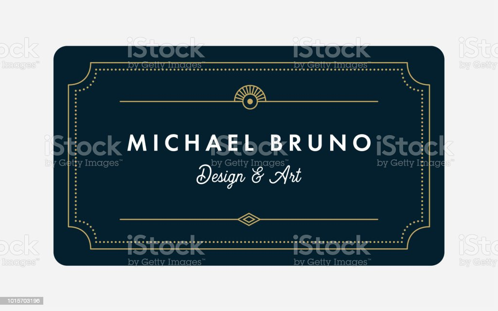 Art Deco Business & Gift Card Template royalty-free art deco business gift card template stock illustration - download image now