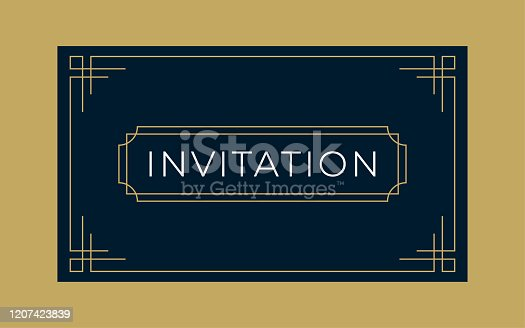 istock Art Deco Business & Invitation Card Template 1207423839