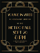 Art deco themed invite/card