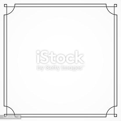 istock Art deco decorative frame. Great gatsby style. 1080336246