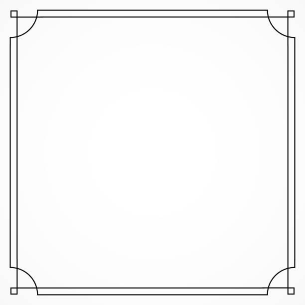 art deco decorative frame. great gatsby style. - white background stock illustrations