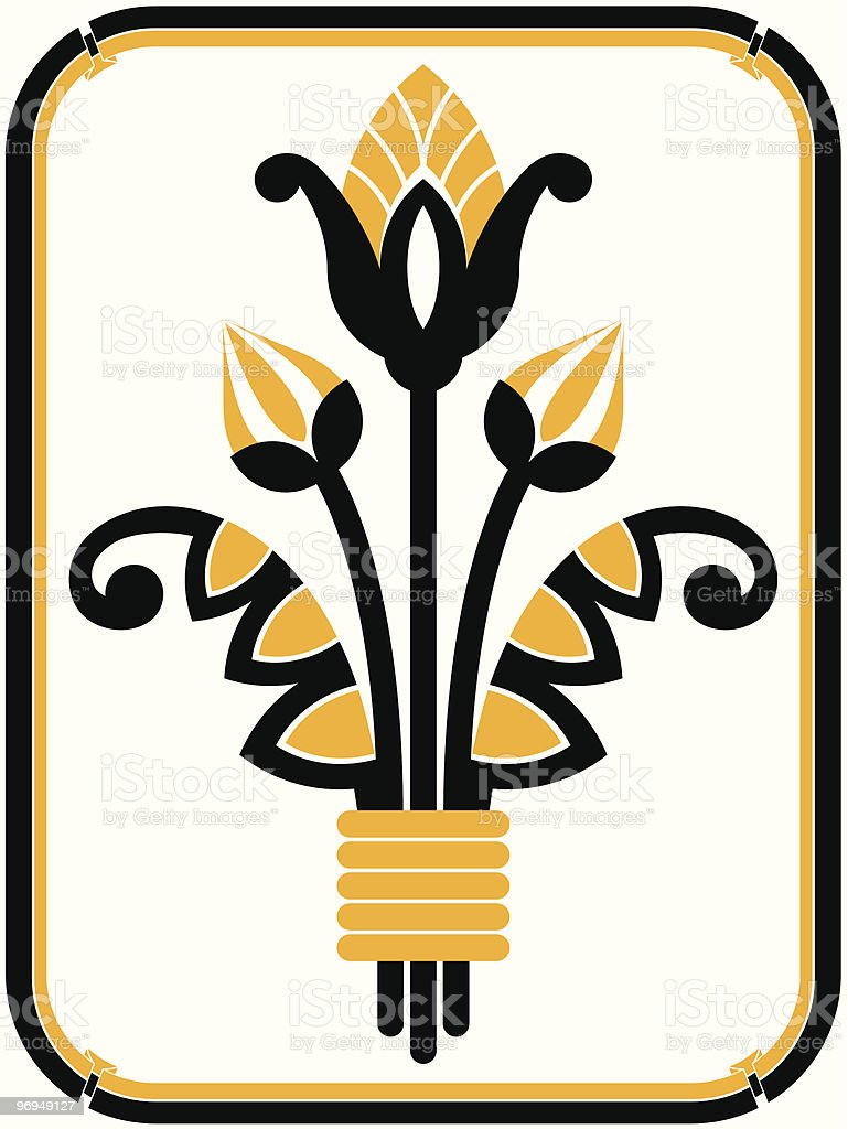 Art deco design element and frame royalty-free art deco design element and frame stock vector art & more images of antique