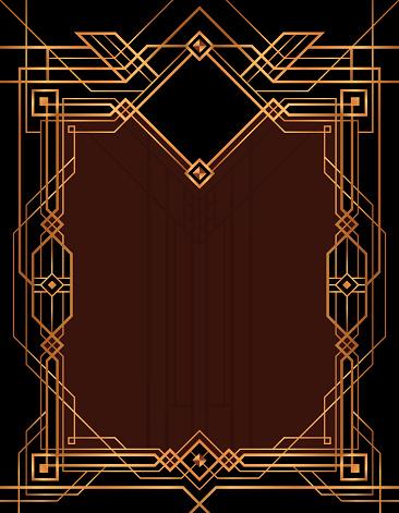 Art Deco Design Gatsby Frame Vector Stock Illustration