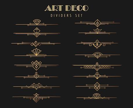 Art deco dividers