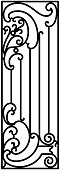 Wrought iron illustration in vector.