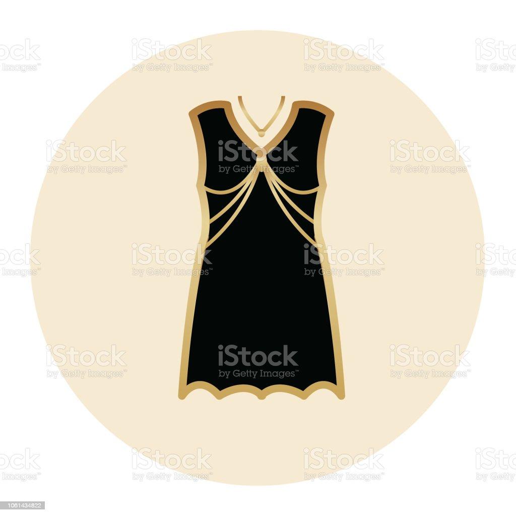 Art Deco Dress Icon Stock Illustration Download Image Now Istock